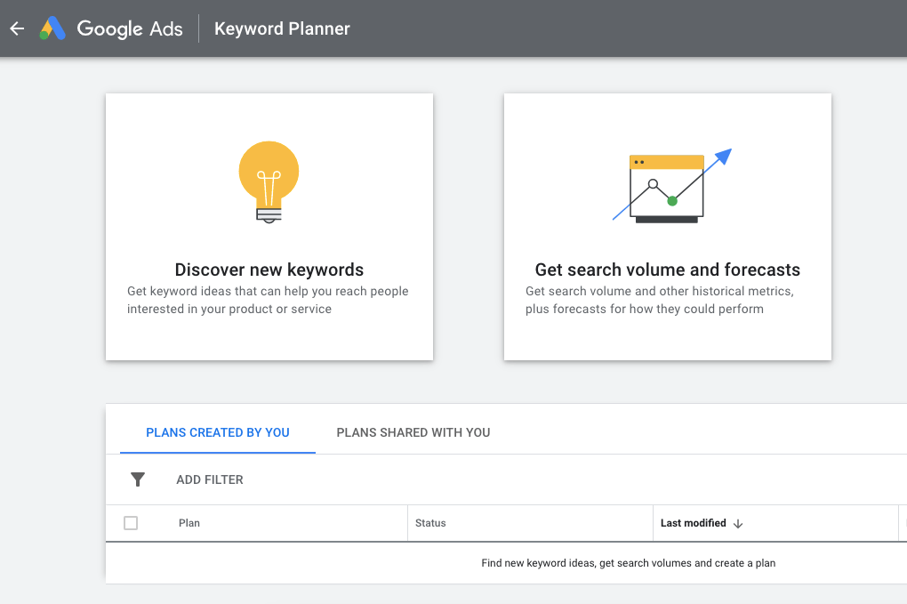 Using Google Keyword Planner as a keyword optimization tool